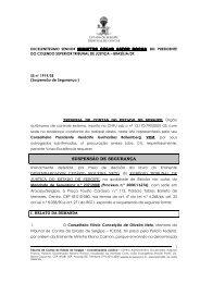 Suspensão de Segurança no STJ - Liminar MS ... - TCE-SE - Sergipe
