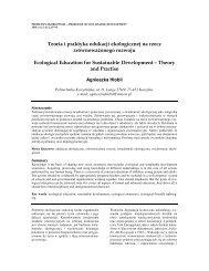 Teoria i praktyka edukacji ekologicznej na rzecz zrównowaŜonego ...