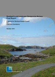 Shetland Local Landscape Designation Review: Final Report