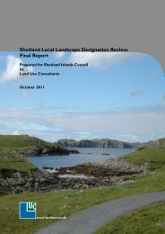 Shetland Local Landscape Designation Review: Final Report