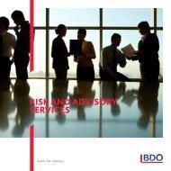 Download our brochure - BDO