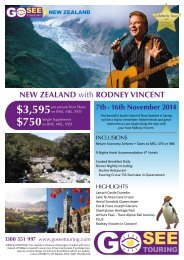NEW ZEALAND with RODNEY VINCENT - Go See Touring
