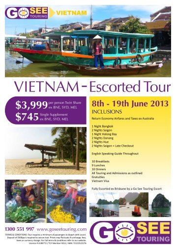 VIETNAM Escorted Tour - Go See Touring