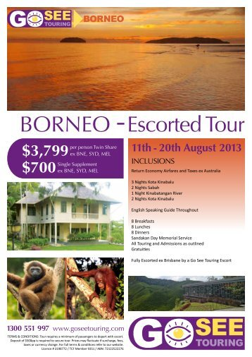 BORNEO Escorted Tour - Go See Touring