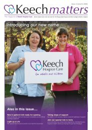 Introducing our new name - Keech Hospice Care