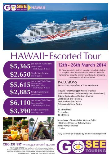 HAWAII Escorted Tour - Go See Touring