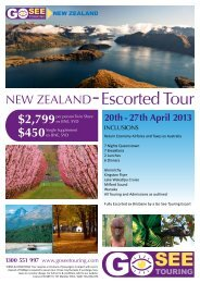 NEW ZEALAND Escorted Tour - Go See Touring
