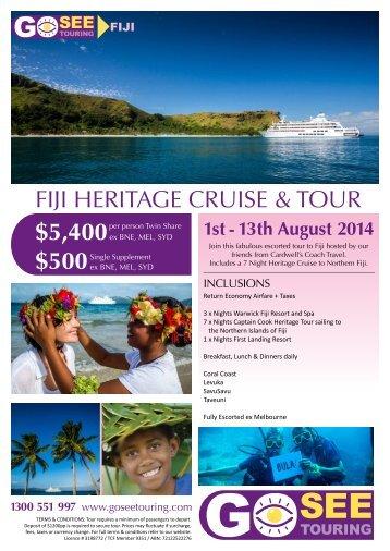 FIJI HERITAGE CRUISE & TOUR - Go See Touring