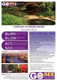 chelsea flower show - Go See Touring
