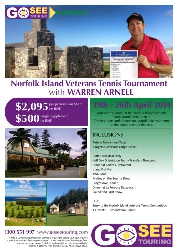 2095 Norfolk Island Veterans Tennis Tournament - Go See Touring