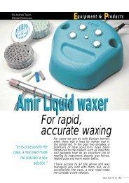 DVA's Liquid Waxer system featured in Dent. Tech. - Dental Ventures