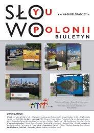 • Nr 49-50 BELGRAD 2011 • - Polonia-serbia.org