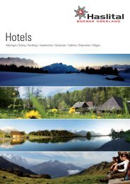 Hotels - im Haslital
