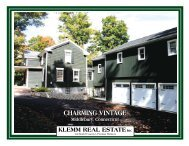 chARMIng vInTAgE chARMIng vInTAgE - Klemm Real Estate, Inc.