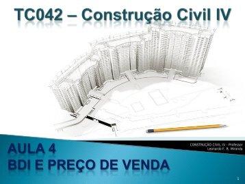 Miranda - CC4 - BDI e preço de venda - DCC