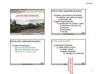 Ciclo de vida de projetos - DCC - Universidade Federal do Paraná