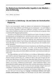 Zur Bedeutung interkultureller Aspekte in der Medizin – eine ...