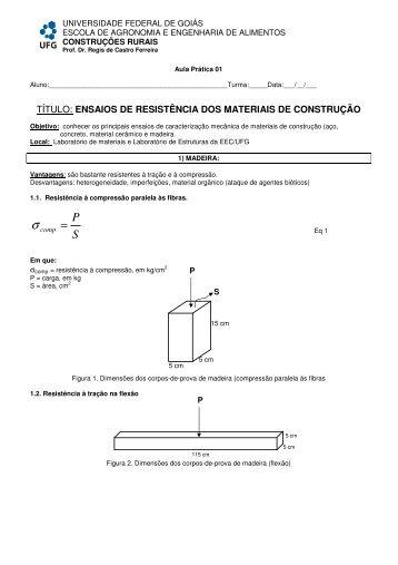 título: ensaios de resistência dos materiais de construção - UFG