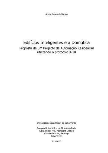 Edifícios Inteligentes e a Domótica - Universidade Jean Piaget de ...