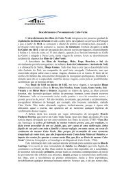 Descobrimento e Povoamento de Cabo Verde O descobrimento das ...