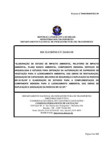 Edital nº 216/2013-00 - Dnit