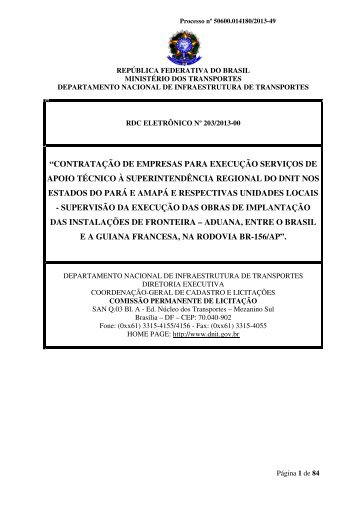 Edital nº 203/2013-00 - Dnit