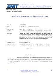JULGAMENTO DE IMPUGNAÇÃO ADMINISTRATIVA - Dnit