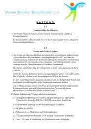 VSD Satzung - Verein Sozialer Dienstleister