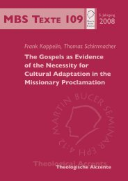 The Gospels as Evidence of the Necessity for Cultural Adaptation in ...