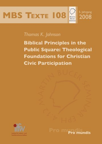 Theological Foundations for Christian Civic Participation