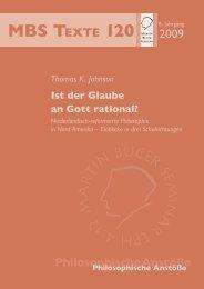 Ist der Glaube an Gott rational? - Martin Bucer Seminar