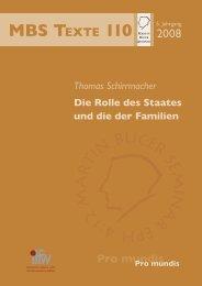 Die Rolle des Staates und die der Familien - Martin Bucer Seminar