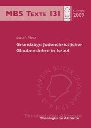 Grundzüge Judenchristlicher Glaubenslehre in Israel - Martin Bucer ...