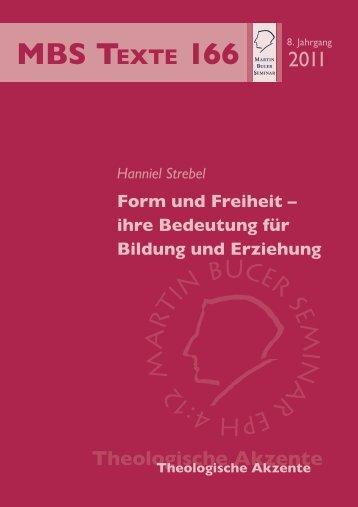 Form und Freiheit - Martin Bucer Seminar
