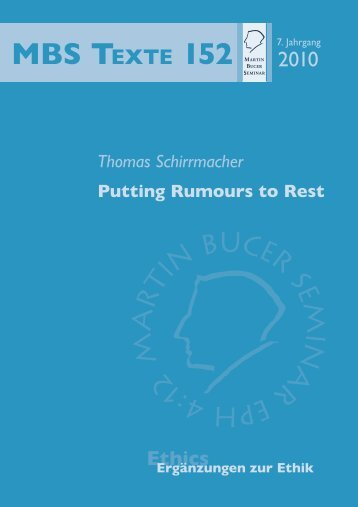 Putting Rumours to Rest May a Christian Go to Court? - Martin Bucer ...