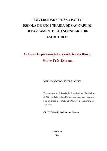 Análises Experimental e Numérica de Blocos Sobre ... - Sistemas SET