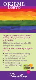OK2BME brochure - KW Counselling Services