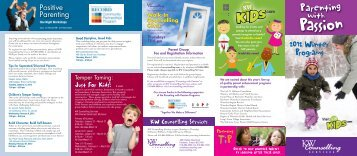 2012 Winter Programs - KW Counselling Services