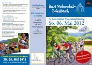 ausschreibung 2012 - Triathlon Bad Peterstal
