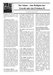 ^ Der Islam – eine Religion der Gewalt oder des Friedens II