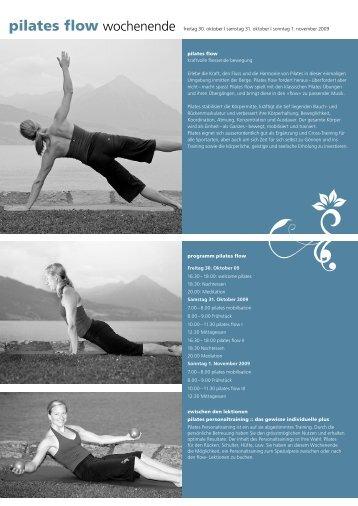 pilates flow wochenende - flinx