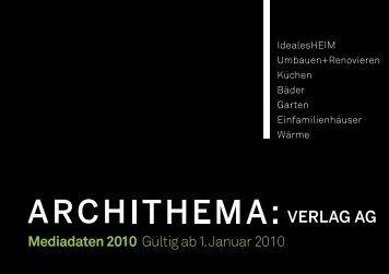 Mediadaten 2010 Gültig ab 1. Januar 2010