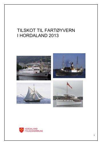 tilskot til fartøyvern-2013 - Hordaland fylkeskommune