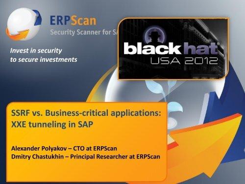 SSRF vs  Business-critical applications - ERPScan