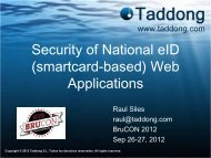 Security of National eID (smartcard-based) Web ... - Taddong