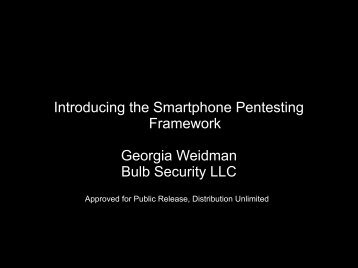 Introducing the Smartphone Pentesting Framework Georgia ...