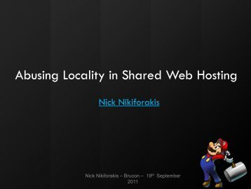 Breaking Web Applications in Shared Hosting Environments - BruCON