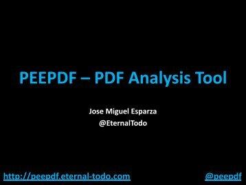 peepdf - PDF Analysis Tool