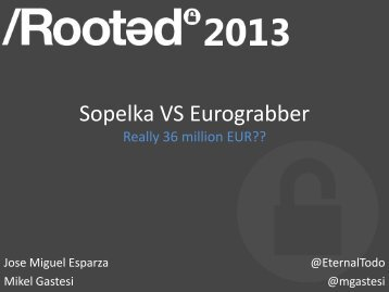 Sopelka VS Eurograbber - Really 36 million EUR? - Eternal-todo.com