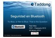 Seguridad en Bluetooth - Taddong